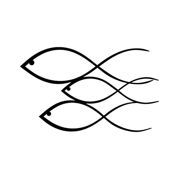 FISH - BLACK Wall Art-Metal Wall Art-[sale]-[design]-[modern]-Modern Furniture Deals
