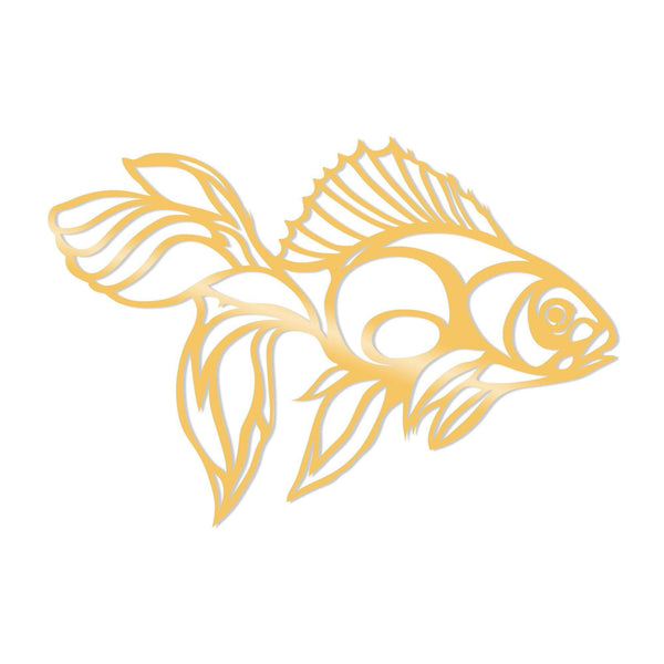 FISH METAL DECOR - GOLD Wall Art-Metal Wall Art-[sale]-[design]-[modern]-Modern Furniture Deals