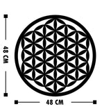 FLOWER OF LIFE 3 Wall Art-Metal Wall Art-[sale]-[design]-[modern]-Modern Furniture Deals