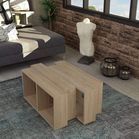 Geo Coffee Table-Oak-Modern Furniture Deals
