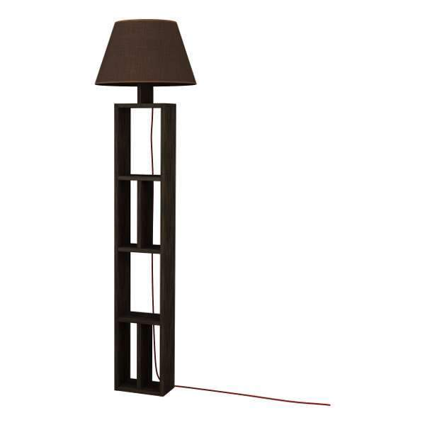 Geo Floor Lamp-Dark Brown-Brown-Modern Furniture Deals