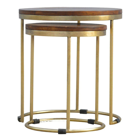 Golden Nesting Stools-Modern Furniture Deals