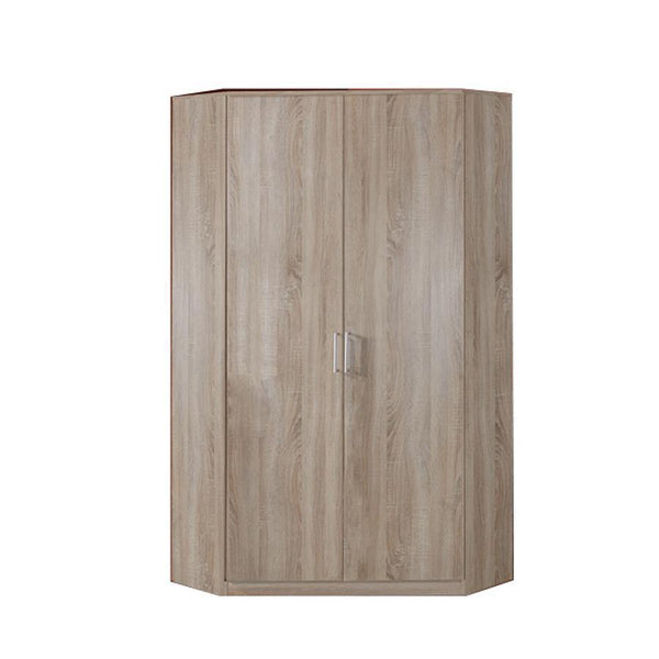 Grain Oak 2 Door corner Wardrobe-Modern Furniture Deals