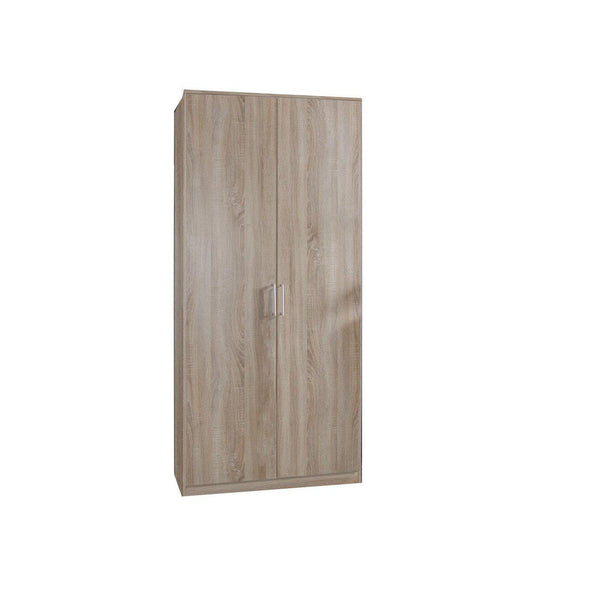Grain Oak 2 Door Wardrobe-Modern Furniture Deals