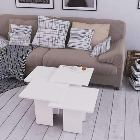 Grid Nest Of Tables-White-Modern Furniture Deals