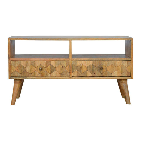 Hand Carved Media Unit-Modern Furniture Deals