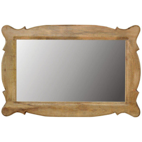 Hand Carved Oblong Mirror Frame-Modern Furniture Deals