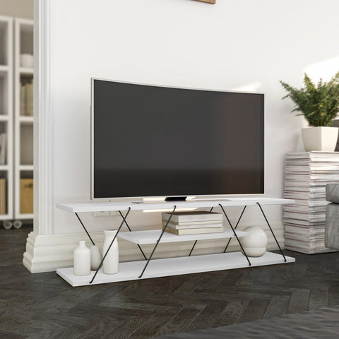 HANG 3 Tier TV Stand White-TV STAND-[sale]-[design]-[modern]-Modern Furniture Deals