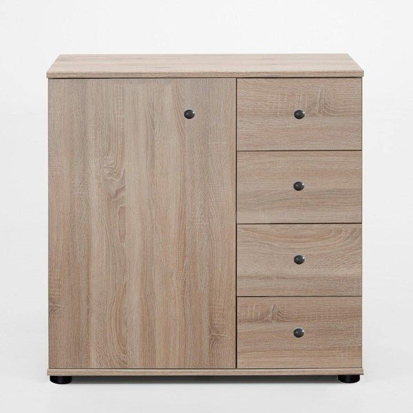 HARMONY 1 Door 4 Drawers Combi Chest Cabinet Oak-Modern Furniture Deals