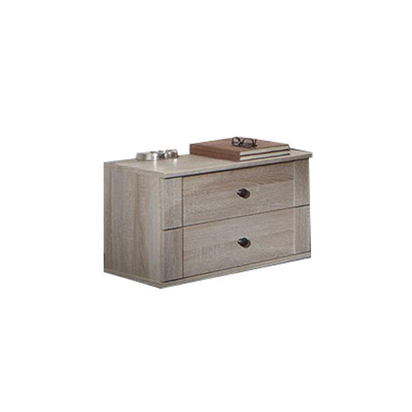 HARMONY 2 Drawer Bedside Chest Oak-Modern Furniture Deals
