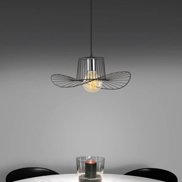 HAT Wide Pendulum Ceiling Light Black-Modern Furniture Deals