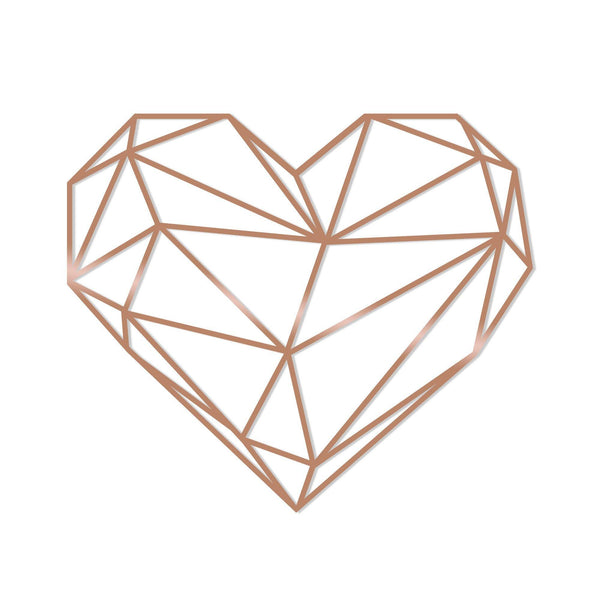 HEART - COPPER Wall Art-Metal Wall Art-[sale]-[design]-[modern]-Modern Furniture Deals