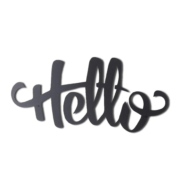 HELLO Wall Art-Metal Wall Art-[sale]-[design]-[modern]-Modern Furniture Deals