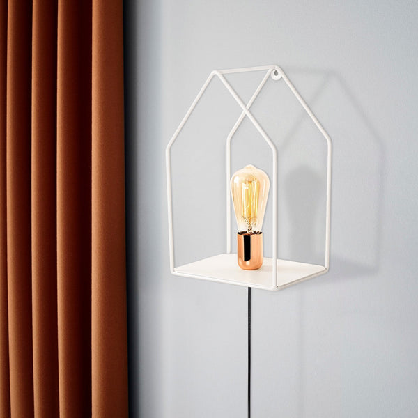 HOME Single Wall Light White-Wall Light-[sale]-[design]-[modern]-Modern Furniture Deals