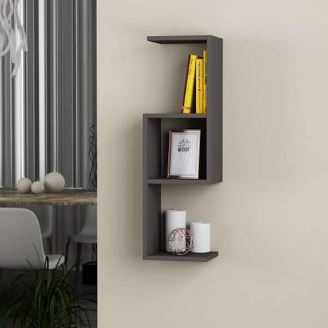 Hook Shelf-Dark Brown-Modern Furniture Deals