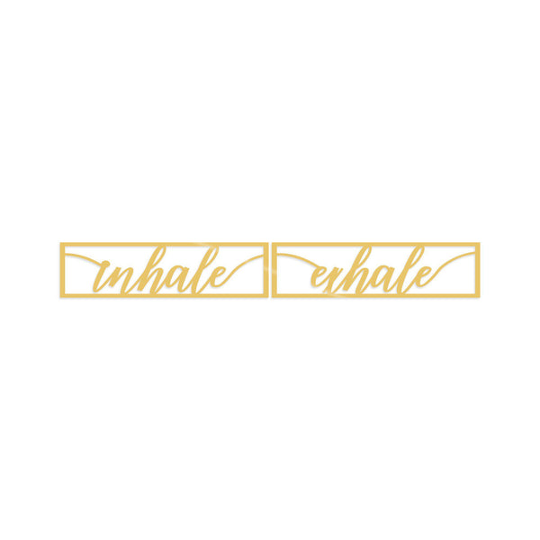 INHALE EXHALE - GOLD Wall Art-Metal Wall Art-[sale]-[design]-[modern]-Modern Furniture Deals
