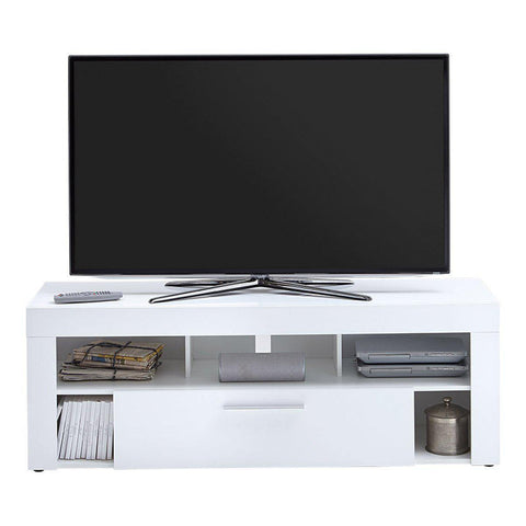 JARVIS High Gloss One Drawer White TV Cabinet-Modern Furniture Deals