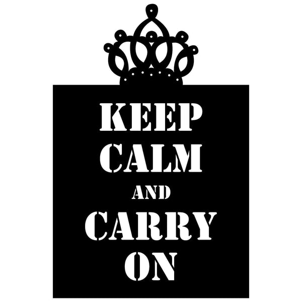 KEEP CALM AND CARRY ON Wall Art-Metal Wall Art-[sale]-[design]-[modern]-Modern Furniture Deals