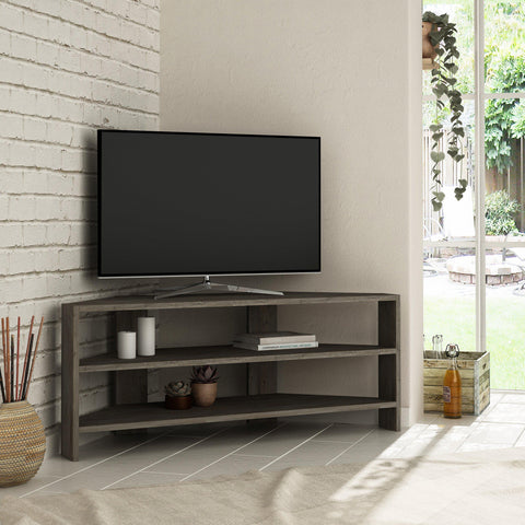 Khorn Corner Tv Stand Dark Coffee-FURNITURE>TV STANDS>CORNER TV-[sale]-[design]-[modern]-Modern Furniture Deals