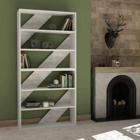 Lay Bookcase Set-Mocha-Mustard-Modern Furniture Deals