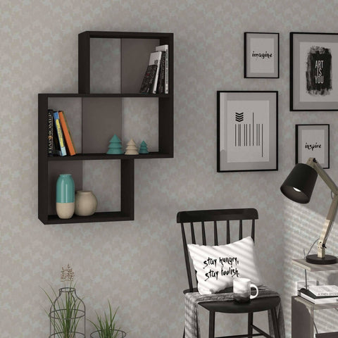 Lay Wall Shelf Grey, Mocha-Modern Furniture Deals