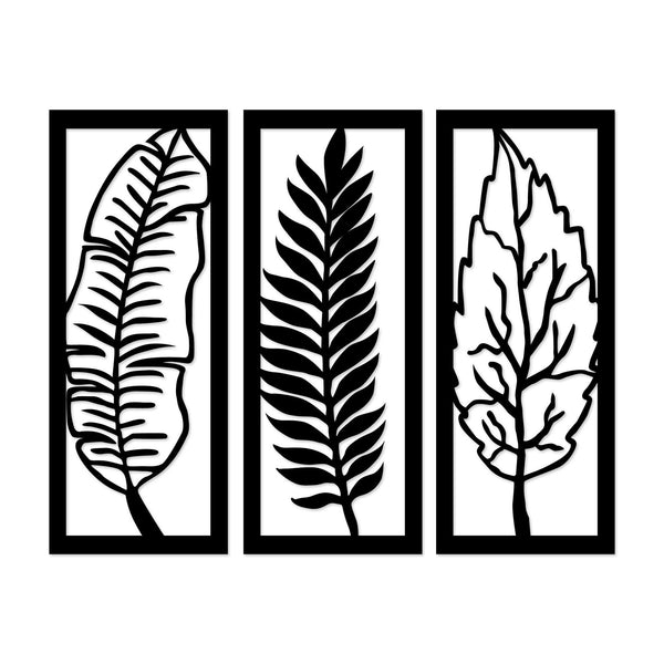 LEAF - BLACK Wall Art-Metal Wall Art-[sale]-[design]-[modern]-Modern Furniture Deals