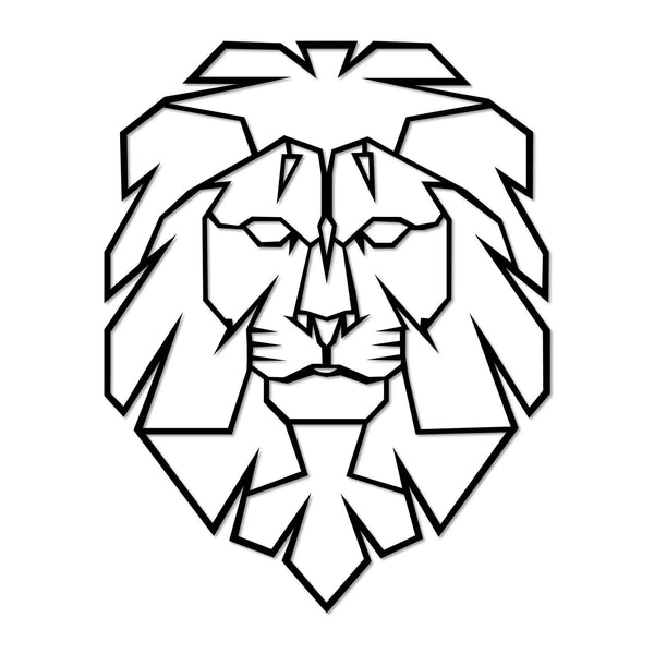 LION - BLACK Wall Art-Metal Wall Art-[sale]-[design]-[modern]-Modern Furniture Deals