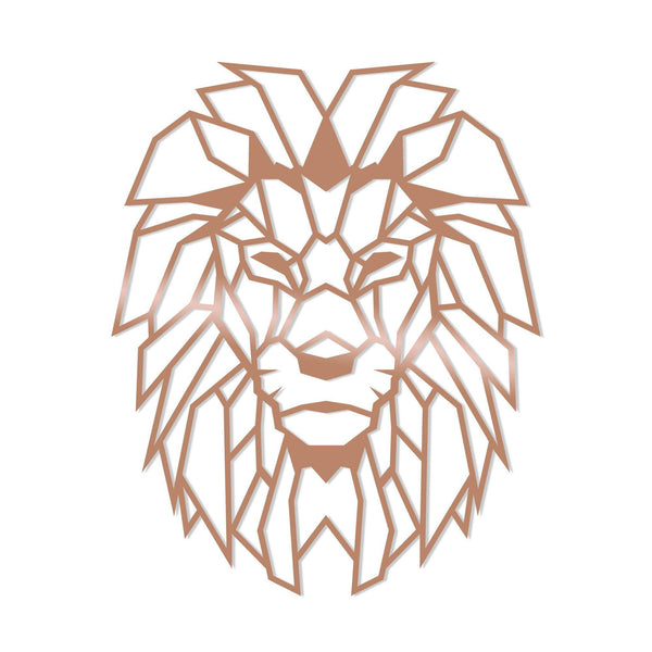 LION - COPPER Wall Art-Metal Wall Art-[sale]-[design]-[modern]-Modern Furniture Deals