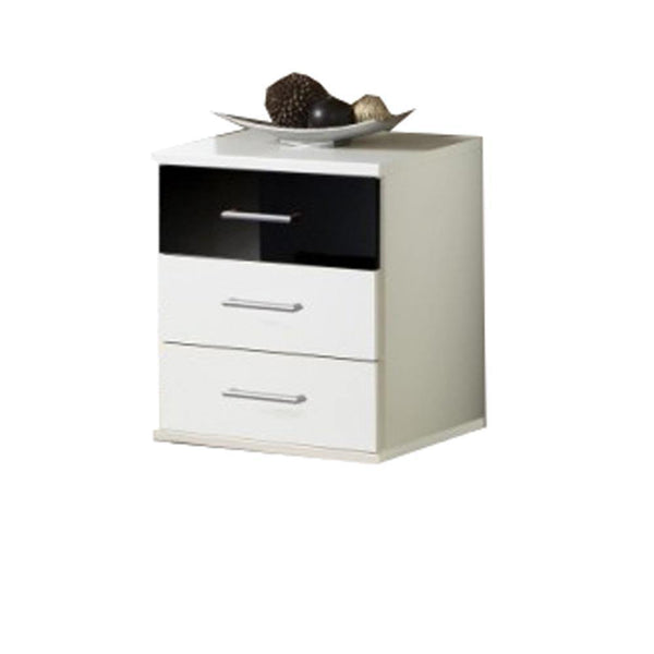 LORIN White And Black 3 Drawer Chest-Modern Furniture Deals