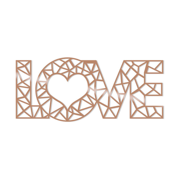 LOVE - COPPER Wall Art-Metal Wall Art-[sale]-[design]-[modern]-Modern Furniture Deals