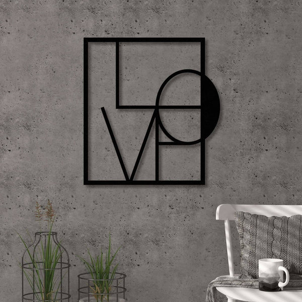 Love Metal Wall Art-Modern Furniture Deals