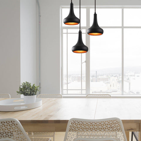 Lula Pendulum 3 Ceiling Light Round, Black-Modern Furniture Deals
