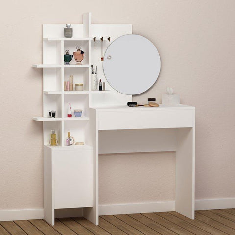 Map Dressing Table Mirror-White-Modern Furniture Deals