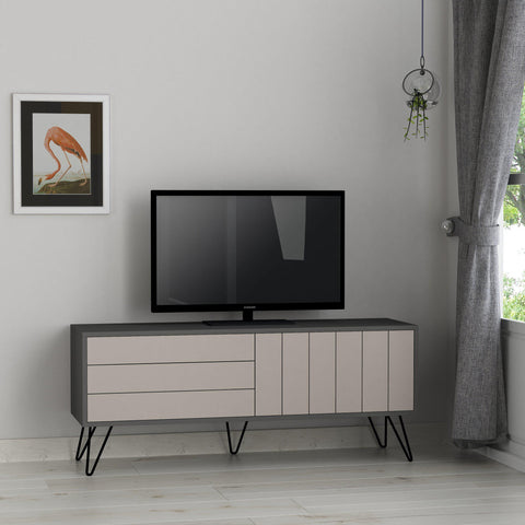 MARI Tv Stand - Anthracite - Light Mocha-FURNITURE>TV STANDS>TV UNIT-[sale]-[design]-[modern]-Modern Furniture Deals