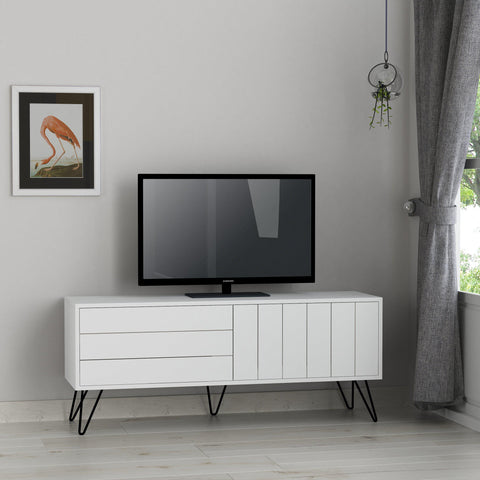 MARI Tv Stand - White - White-FURNITURE>TV STANDS>TV UNIT-[sale]-[design]-[modern]-Modern Furniture Deals