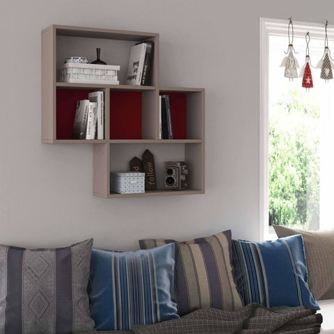 May Shelf-Oak-White-Modern Furniture Deals