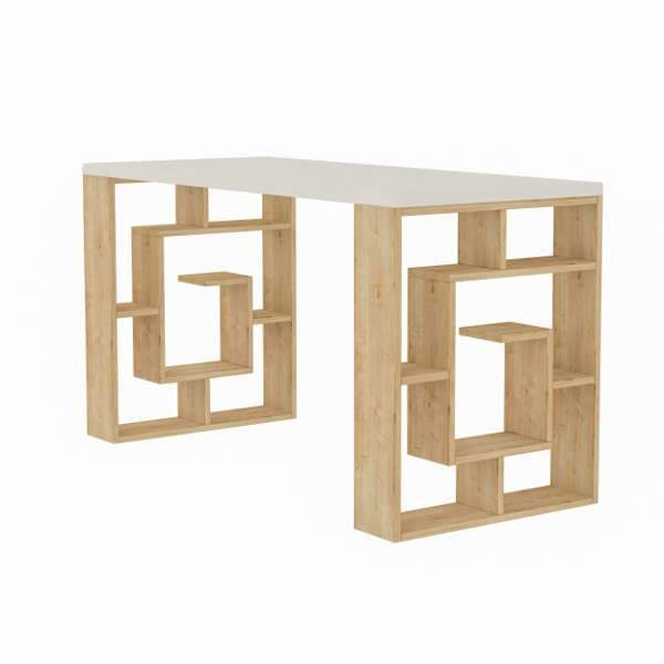Maze Desk-White-Oak-Modern Furniture Deals