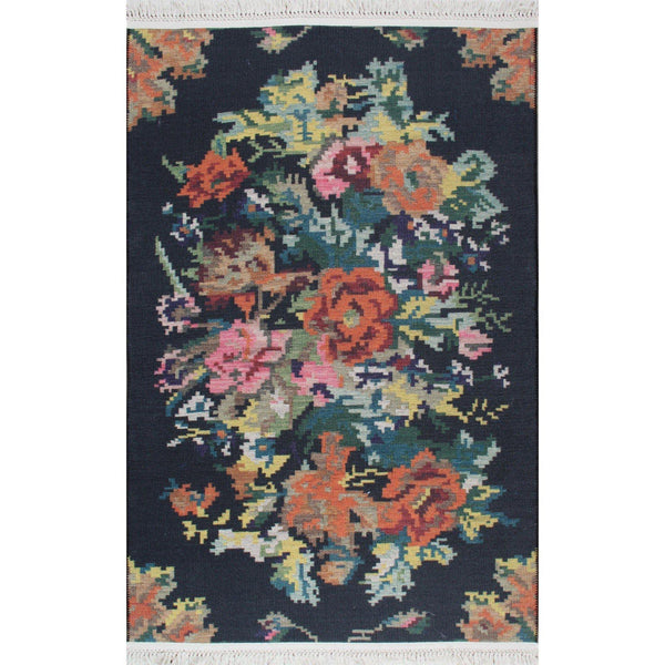 Menna Rug - Black 155X230-Modern Furniture Deals