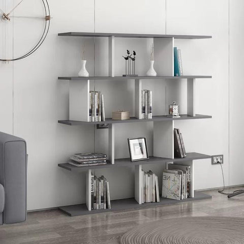 MERCURY Bookcase Anthracite - White-FURNITURE>BOOKCASES-[sale]-[design]-[modern]-Modern Furniture Deals