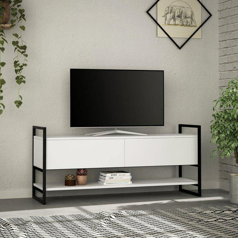 Metal Concept Media Cabinet-White-Modern Furniture Deals