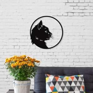 Metal Wall Art Cat-Modern Furniture Deals