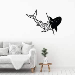 Metal Wall Art Shark-Modern Furniture Deals