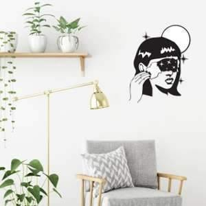 Metal Wall Art Space Girl-Modern Furniture Deals