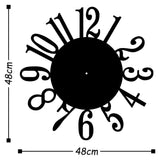 Metal Wall Clock 14 - Black Wall Art-Metal Wall Art-[sale]-[design]-[modern]-Modern Furniture Deals
