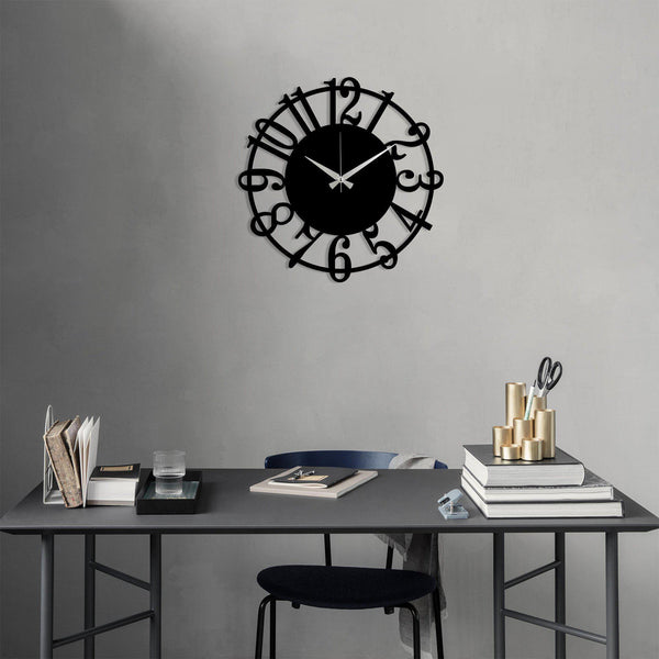 Metal Wall Clock 15 - Black Wall Art-Metal Wall Art-[sale]-[design]-[modern]-Modern Furniture Deals