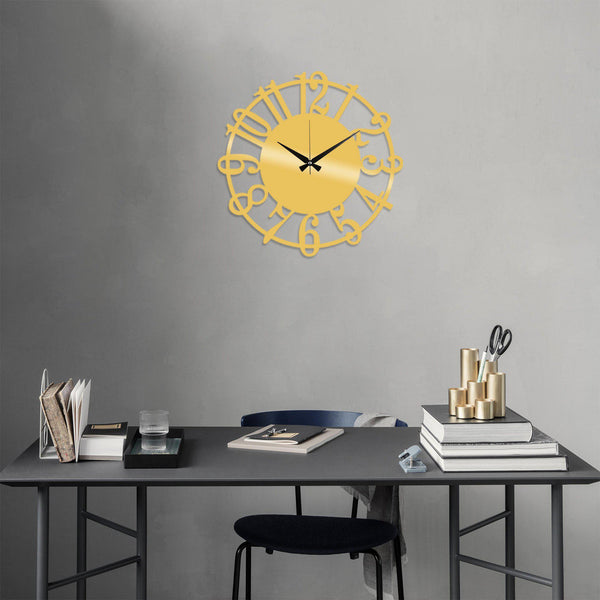 Metal Wall Clock 15 - Gold Wall Art-Metal Wall Art-[sale]-[design]-[modern]-Modern Furniture Deals