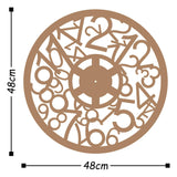 Metal Wall Clock 17 - Copper Wall Art-Metal Wall Art-[sale]-[design]-[modern]-Modern Furniture Deals