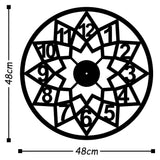 Metal Wall Clock 20 - Black Wall Art-Metal Wall Art-[sale]-[design]-[modern]-Modern Furniture Deals