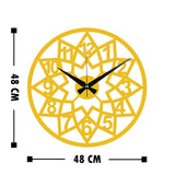Metal Wall Clock 20 - Gold Wall Art-Metal Wall Art-[sale]-[design]-[modern]-Modern Furniture Deals