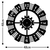 Metal Wall Clock 22 - Black Wall Art-Metal Wall Art-[sale]-[design]-[modern]-Modern Furniture Deals